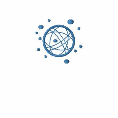 Globe brodé (bleu) polo avec broderie