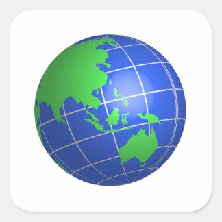 Globe d Oceana Stickers Carrés