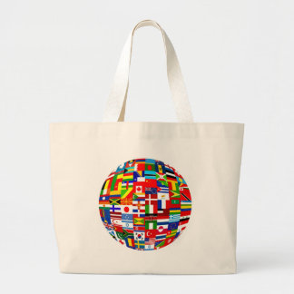 Globe de drapeau grand sac