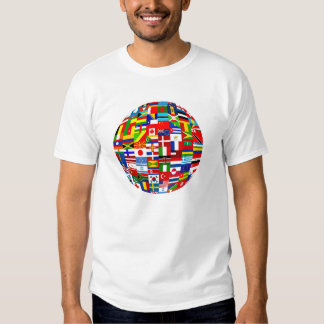 Globe de drapeau t-shirt