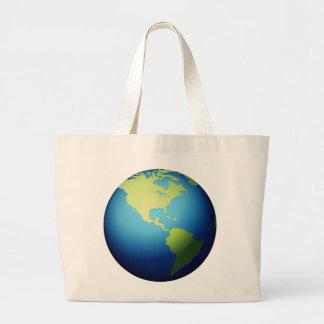 Globe de la terre Amériques - Emoji Grand Tote Bag