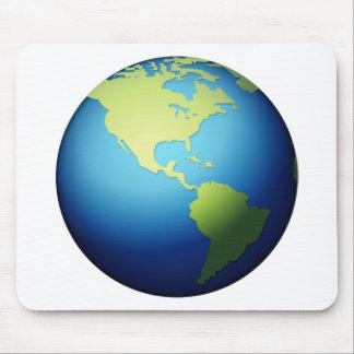 Globe de la terre Amériques - Emoji Tapis De Souris
