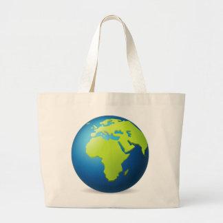 Globe de la terre l'Europe Afrique - Emoji Grand Tote Bag