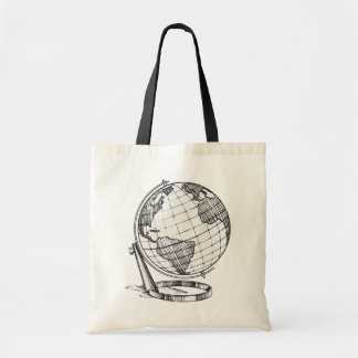 Globe de la terre sacs fourre-tout