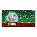 Globe de neige de Joyeux Noël personnalisable Cartes De Vœux Avec Photo
