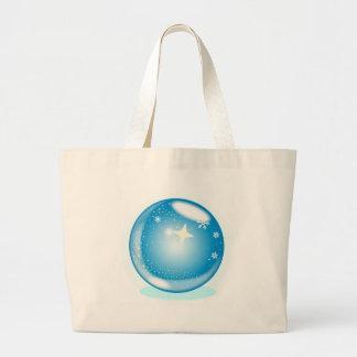 Globe d'étoile de Noël Grand Tote Bag