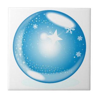 Globe d'étoile de Noël Petit Carreau Carré