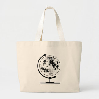 Globe lunaire monté sur le pivot tournant grand tote bag