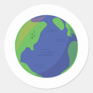 Globe moderne sticker rond