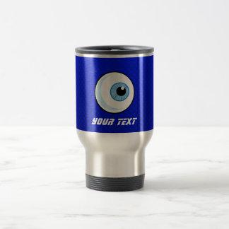 Globe oculaire bleu mug de voyage