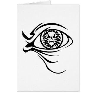 globe oculaire de crâne cartes