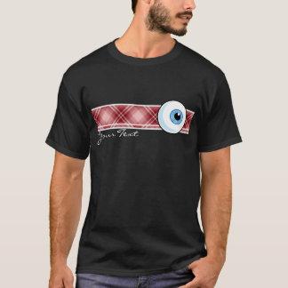 Globe oculaire rouge de plaid t-shirt