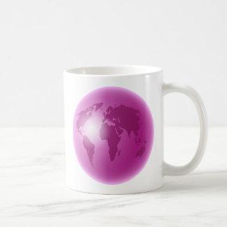 Globe rose du monde mug