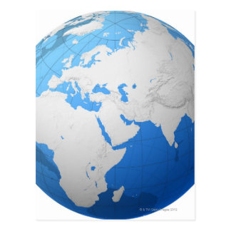 Globe transparent 2 carte postale