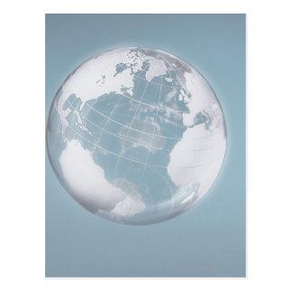 Globe transparent 3 carte postale