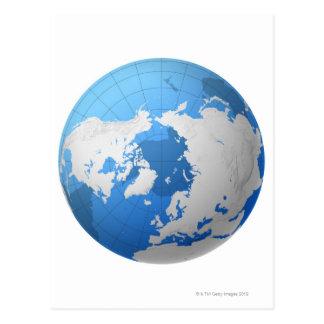 Globe transparent carte postale