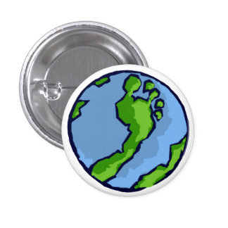 Globe vert Artsy de pied de BRS rond Badges