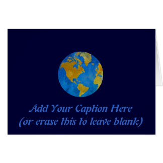 Globe vif comportant les Amériques Cartes De Vœux