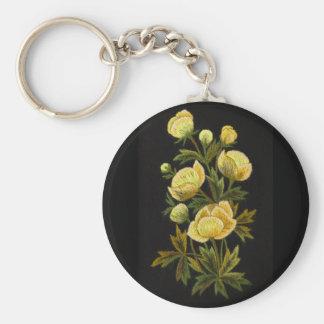 Globeflowers intemporel porte-clé rond