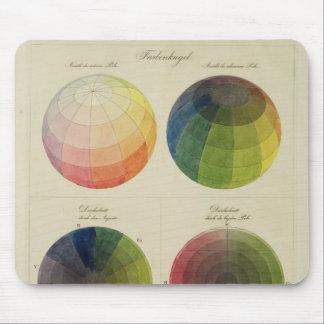 Globes de couleur pour le cuivre tapis de souris