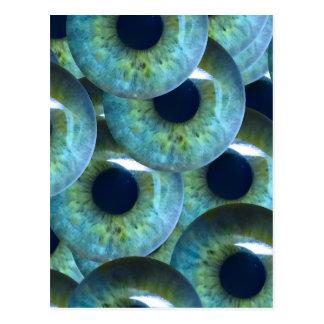 globes oculaires déplaisants carte postale