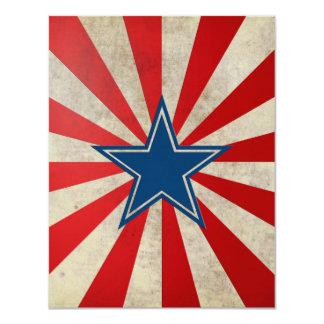 Gloire âgée - rouge, blanc et bleu carton d'invitation 10,79 cm x 13,97 cm