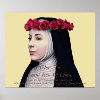 Gloire au rose de saint de Lima Poster