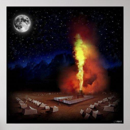 Gloire de Shekinah de Dieu Posters