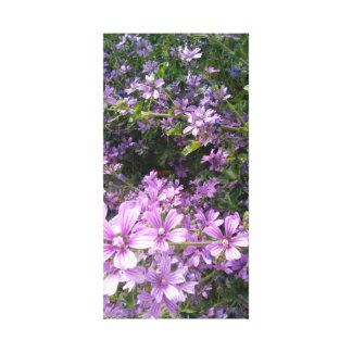 Gloire d'été, art pourpre de mur de fleur sauvage toile