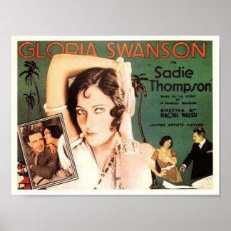 "Gloria Swanson dans ""Sadie Thompson "" Posters"