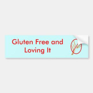 gluten-libre-blé, gluten libre et l'aimant autocollant pour voiture
