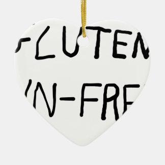 Gluten Unfree Ornement Cœur En Céramique