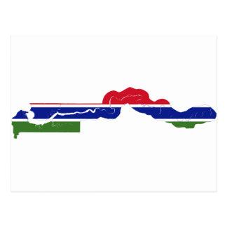 GM de carte de drapeau de la Gambie