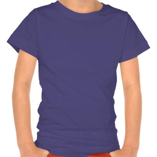 Gmnast rythmique avec la pièce en t de filles de r t-shirts
