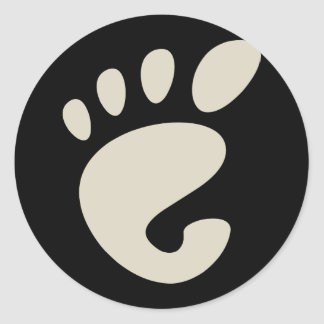 Gnome - Linux - OSS FSF Autocollant Rond