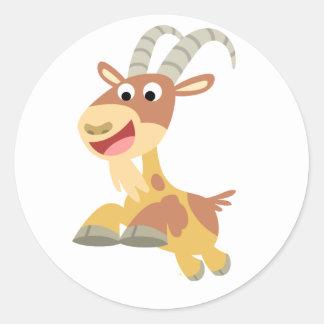 Go Goat!! (cute cartoon goat) Sticker