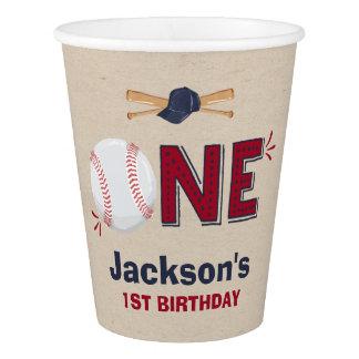 Gobelets En Papier Anniversaire de base-ball de tasse de papier