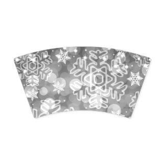 Gobelets En Papier Argent élégant de Bokeh de Noël de vacances