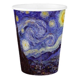 Gobelets En Papier Beaux-arts de cru de nuit étoilée de Vincent van