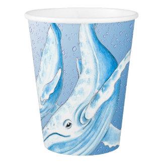 Gobelets En Papier Bosses bleus Waterdrops