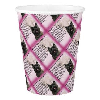 Gobelets En Papier Cairn Terrier - poème de belle-fille