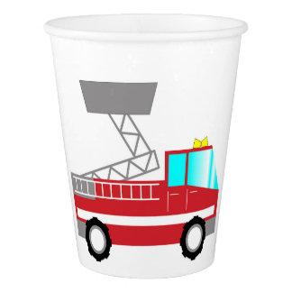 Gobelets En Papier Camion de pompiers des tasses de papier |
