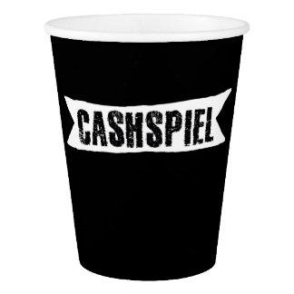 Gobelets En Papier Cashspiel, tasse de papier de bordage de tournoi