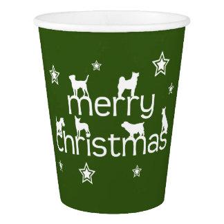 Gobelets En Papier Chien de Joyeux Noël