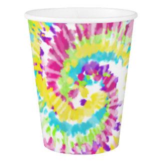 Gobelets En Papier Colorant au néon de cravate de Digitals