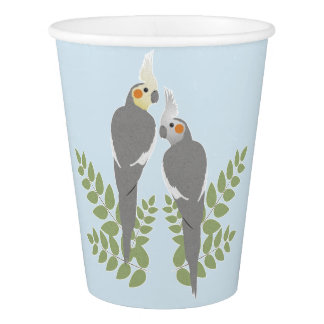 Gobelets En Papier Couples de Cockatiel