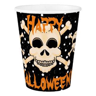 Gobelets En Papier Crâne et tasses de papier de Halloween d'os
