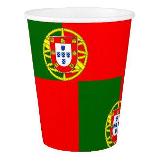 Gobelets En Papier Drapeau national du Portugal
