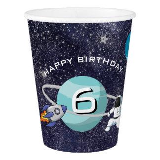 Gobelets En Papier Fête d'anniversaire de système solaire