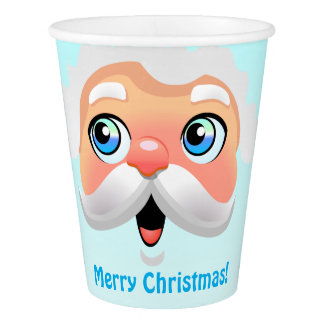 Gobelets En Papier Fête de Noël secrète de Père Noël